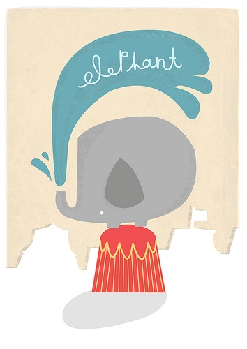 83 best images about Elephants: Illustrations (solid ...