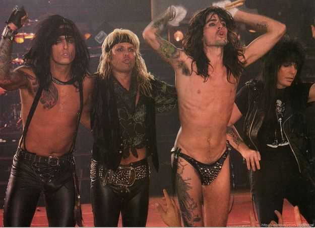 Motley Crue:  Nikki Sixx, Vince Neil, Tommy Lee, and Mick Mars