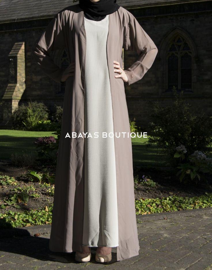 Chiffon Beige Cardigan - Abayas Boutique