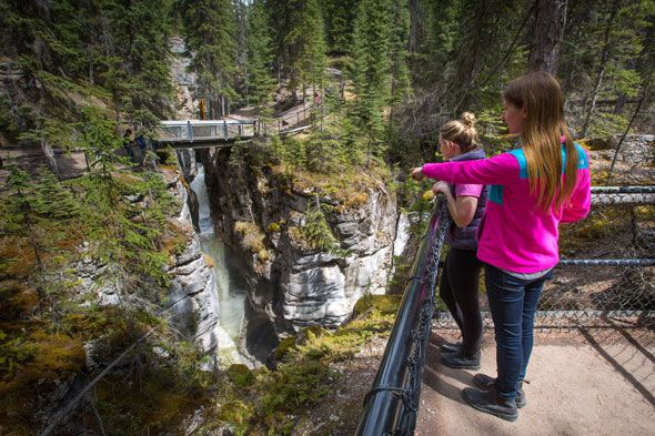 Maligne Canyon in the summer