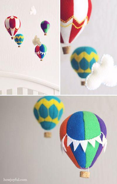 Make a felt hot air balloon mobile | How About Orange