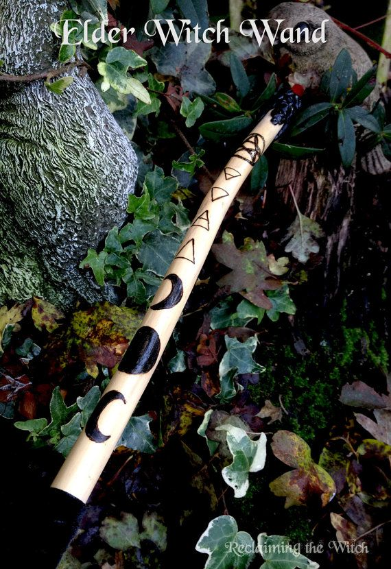 Elder Witch Wand  pagan witch witchcraft wicca by MoonsCraftsUK