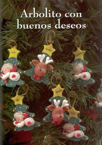 Adornos para el árbol de navidad en arcilla polimérica / polymer clay