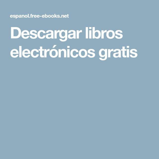 Descargar libros electrónicos gratis