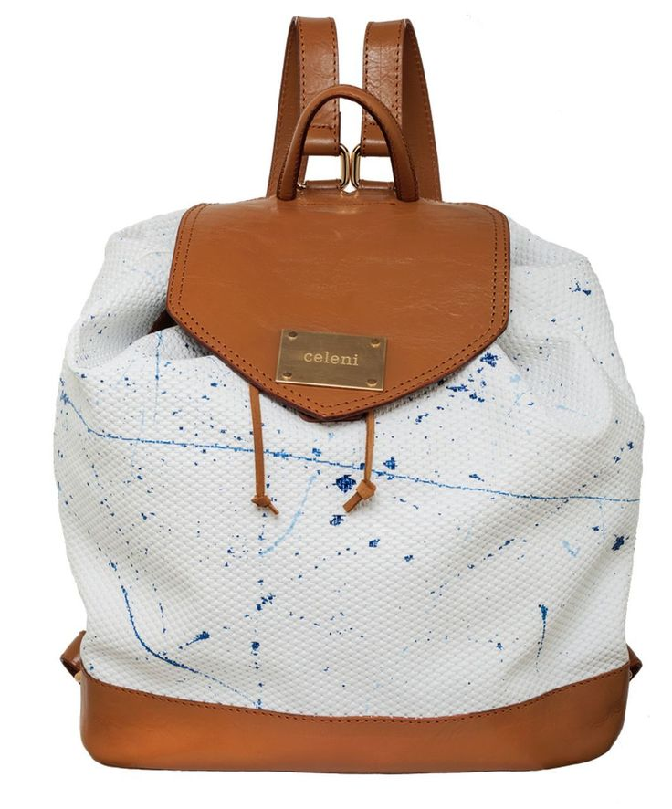 $346 Paf Hand Painted Backpack by Celeni.  Shop here: http://www.trendcy.com/paf-hand-painted-backpack/