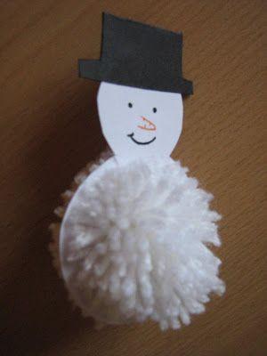 Óvónéni szemével: HTB Karácsonyfadíszek 1. rész - Pom-pom hóember