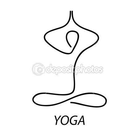 Yoga - sinal — Ilustração de Stock #5775937