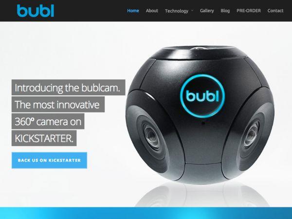 カナダ・トロントに拠点を置くスタートアップ「Bubl」が開発した。「Bublcam」は野球ボール大(半径4センチ、重さ280グラム)で、形もボールのように球状だ。カメラを4つ搭載していて、撮影エリアが重なることはあっても360度死角はない。また、オーバーラップした部分はソフトウェアが自動でつなぎ合わすようになっている。