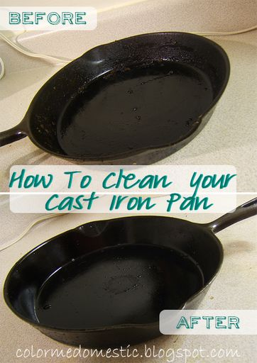 Color Me Domestic: Cleaning an Iron Cast Pan