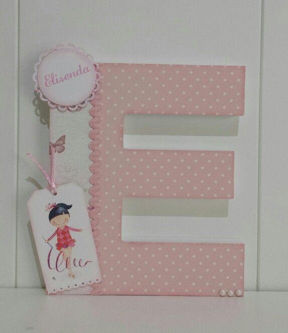 Inicial decorada con scrap letra para elisenda scrapbooking letras decoradas pinterest - Letras decoradas scrap ...