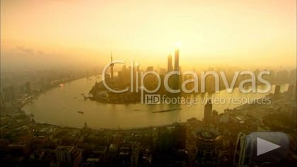 Aerial scene of Shanghai Lujiazui district in 2014. HD Stock Footage Clip. Extreme wide. 2014-12-01, CHINA.