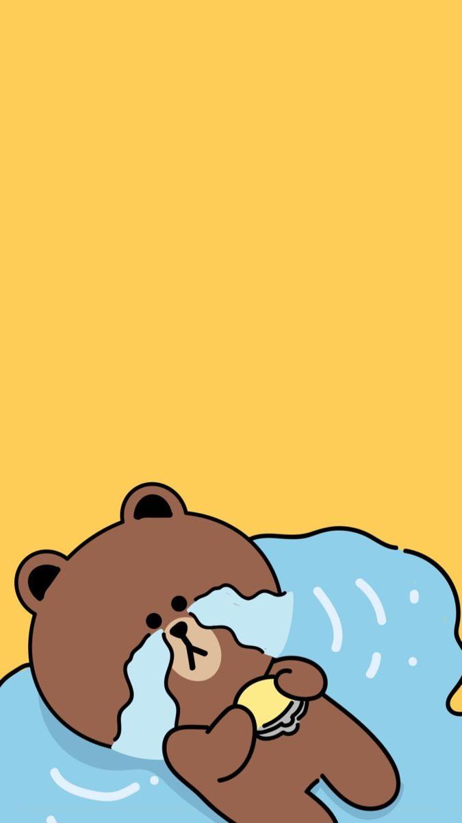 Pin Oleh Binti Aminatuz Di Brown Cony Beruang Coklat Binatang Seni Animasi