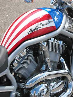 Harley Davidson...Beautiful, Patriotic Paint <3