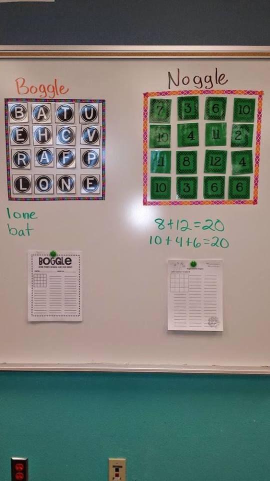 Maak 2 sets kaartjes van 1-12, lamineer ze en doe er magneetplakband achter. Maak een set kaartjes met de cijfers van 1-30 en trek er ...