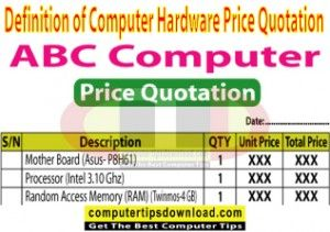 Price Quotation Definition