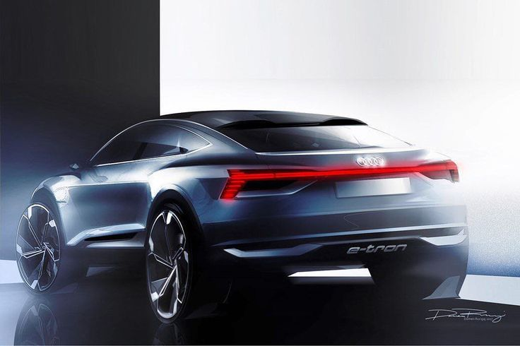 #Audi E-Tron Sportback Crossover concept sketch by Domen Rucigaj. #conceptcar #cardesign #cardesigner #shanghai