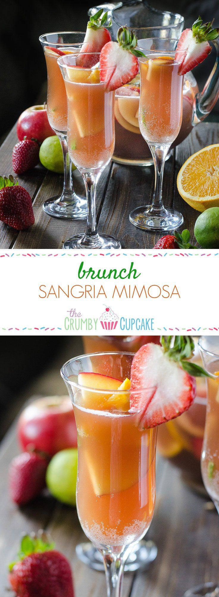 Can't decide between sangria or mimosa for brunch? Have both! Fresh fruit bathed in pineapple juice, champagne, and a little Creme de Cassis makes for a perfect weekend pick-me-up!