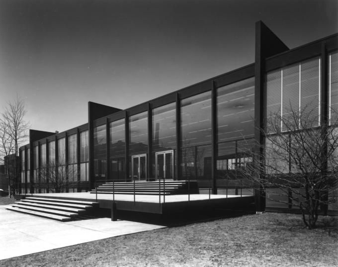 S.R. Crown Hall by Mies van der Rohe. Photography © Chicago History Museum. Courtesy of Krueck and Sexton Architects. Click above to see lar...