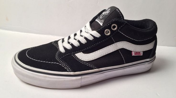 Mens VANS Black Trujillo Casual Pro Skate Shoes 7.5 #VANS #Skateboarding