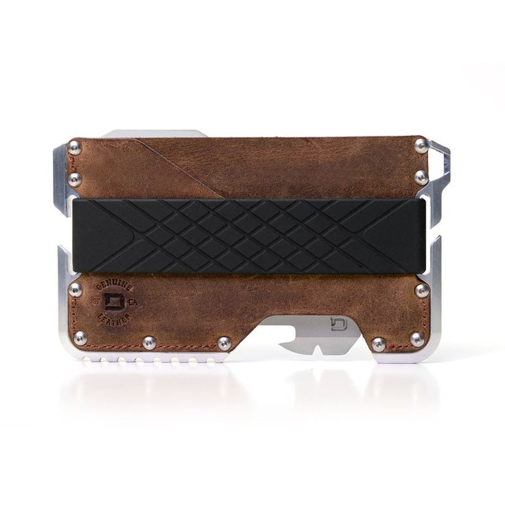WALLETS Dango Wallets pack a punch in a small form factor. An aggressive yet sleek design made to look and feel awesome.With cnc'd metal, genuine leather & high capacity silicone, these wallets beg to be shown off.
