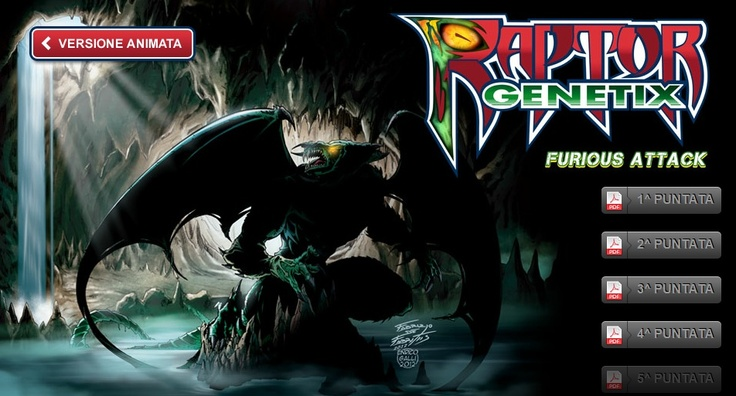 Raptor, Gardaland, un fumetto per un'attrazione