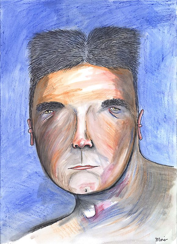 Love this… Vic Reeves' portrait of Simon Cowell