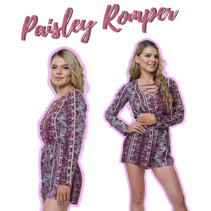 This Paisley Playsuit/ Romper is one of our faves! 💗💗💗 Available online.