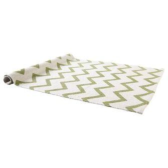 Vloerkleed Bombay zigzag groen/wit 60x90 cm | Vloerkleden | Woonaccessoires | Meubelen | KARWEI
