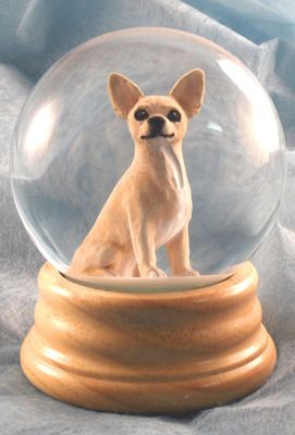 Chihuahua Dog Musical Water Snow Globe Fawn - You've Got a ...