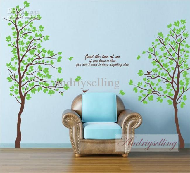 Cheap Decor Sticker, Buy Quality Sticker Directly From China Decoration  Sticker Wall Suppliers: Green Lover Tree Wall Sticker Mural Home Decals  Removable ... Part 39