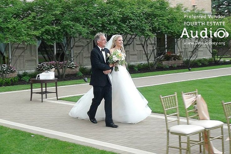 """Brittany makes her entrance to Yiruma's """"River Flows in You."""" http://www.discjockey.org/real-chicago-wedding-august-20-2016/"""