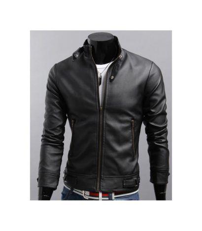 jaqueta de couro masculina lindo modelo