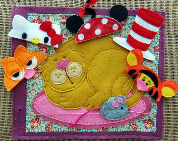 At Granny's FELT Quiet BOOK .PDF Pattern by LindyJDesign on Etsy