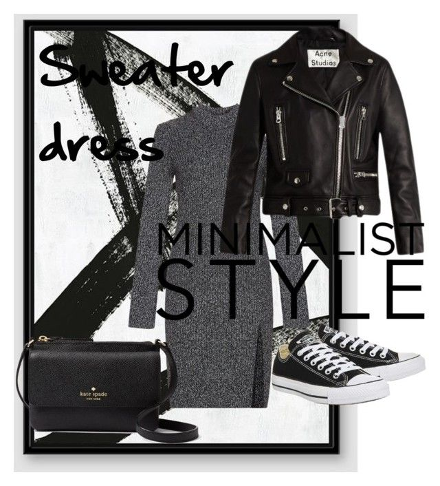 """""""sweater dress"""" by emmamashilo on Polyvore featuring West Elm, BCBGMAXAZRIA, Acne Studios, Topshop and Kate Spade"""
