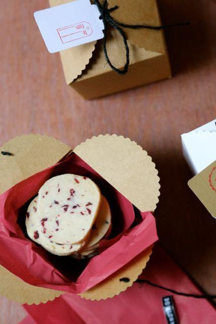 Cranberry shortbread. Edible gift ideas.