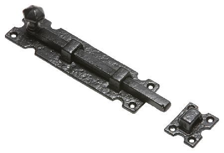 Kirkpatrick 812 Black Antique Style Door Bolt Kirkpatrick traditional black antique style door bolt for fitting to a door and frame that are flush. Bolt plate measures 193x50mm and receiver plate measures 40x50mm. Fixings are included. Kirkpatric http://www.MightGet.com/january-2017-12/kirkpatrick-812-black-antique-style-door-bolt.asp