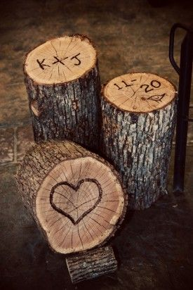 Perfect since Jon proposed to me by a tree with our initials carved into it