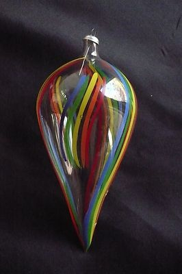 Italian Made, Hand Blown and Hand Painted Glass Ornaments, Set of 6