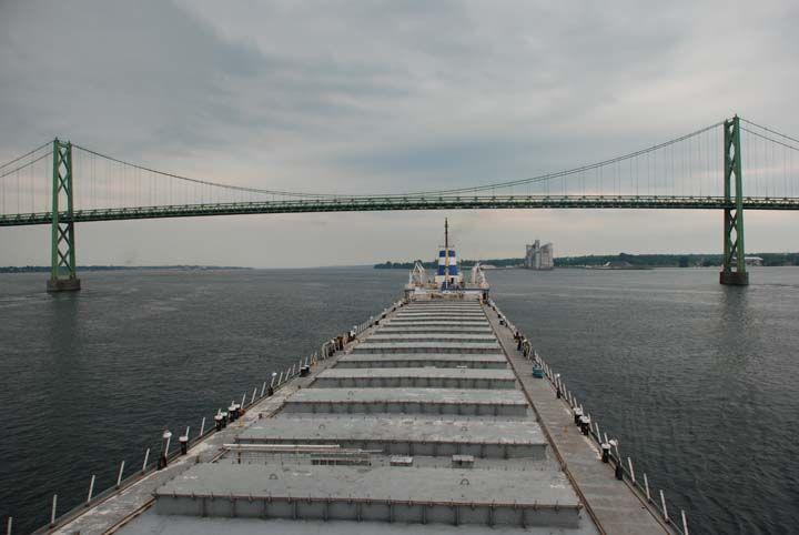 International Bridge between Prescott, Ontario and Ogdensburg, New York M/V Maritime Trader, June 26, 2008, Image 08-2500