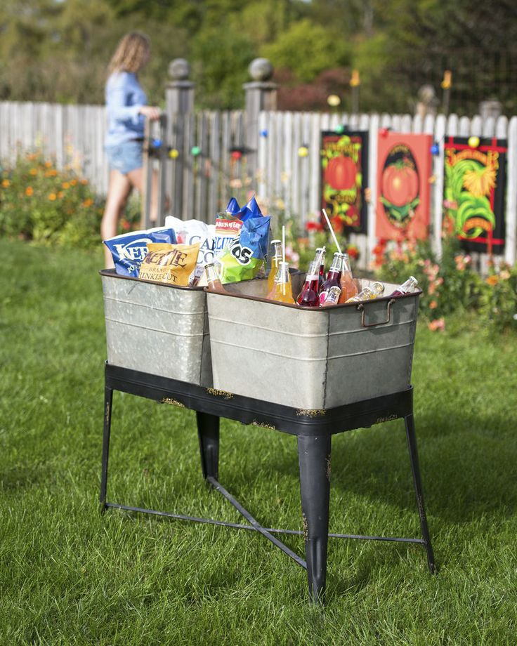 Wash Tub Planter Elevated Garden | Metal Wash Tub Planter