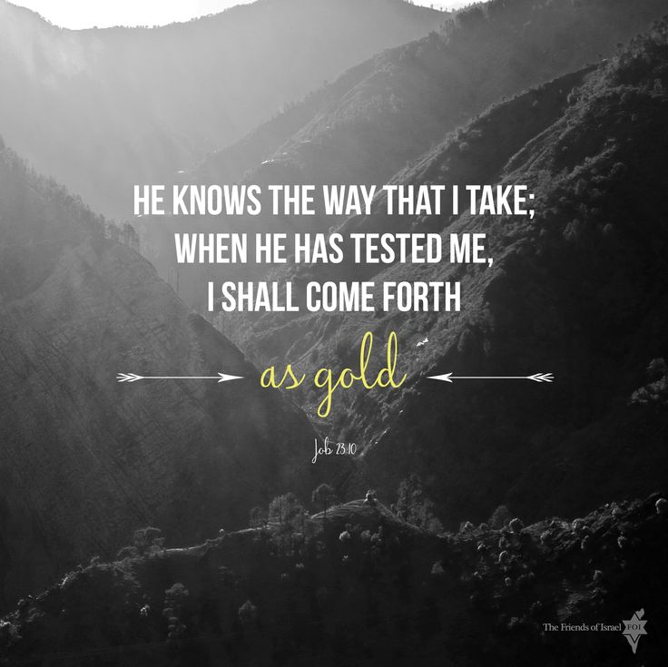 Job 23:10 He knows the way that I take when He has tested me, I shall come forth as gold. #inspiration #bible #verse