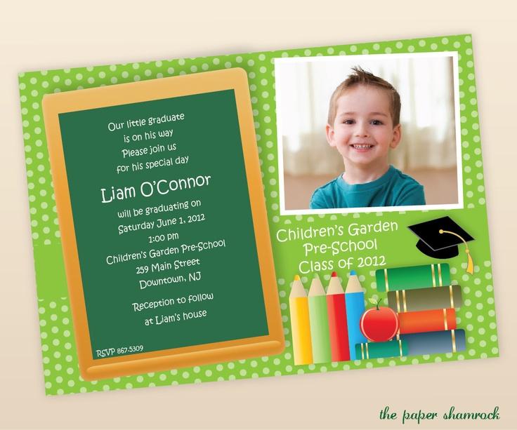 Invitation To Preschool School Graduaton