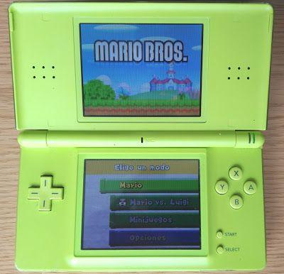 Retro Ordenadores Orty: Nintendo DS Lite (2006), carcasa verde.
