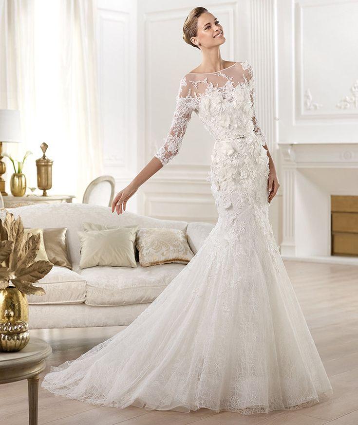 Pronovias presents the Cignus wedding dress. Elie by Elie Saab 2014.   Pronovias