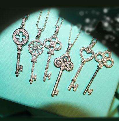 Nauseating l351 yeh key necklace silver zircon lctcause necklace $520,04