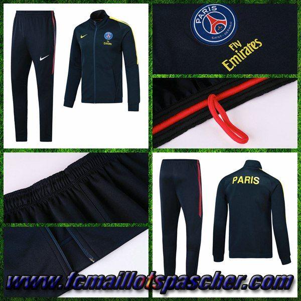 Site Survetement Training Foot - Veste PSG Bleu Marine Ensemble 2017/2018 Pas Chere Online