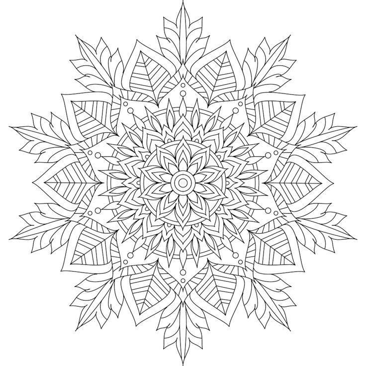 winter soul mandala coloring page by varda k