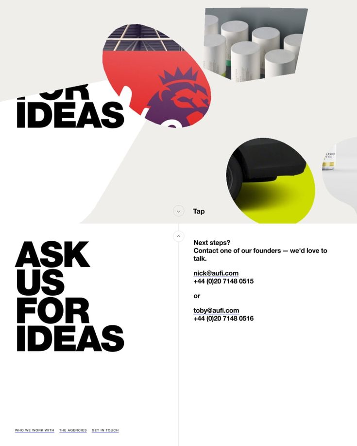 Site of the day: ASK US FOR IDEAS by Bureau for Visual Ideas See more: https://mindsparklemag.com/website/ask-us-ideas/  ASK US FOR IDEAS is a beautifully designed site that is featured as Site of the Day on design blog Mindsparkle Mag