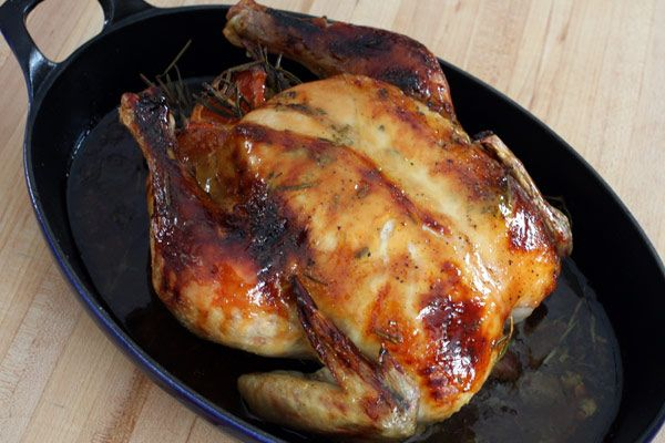 Roasted Whole Chicken With Maple Rosemary Glaze