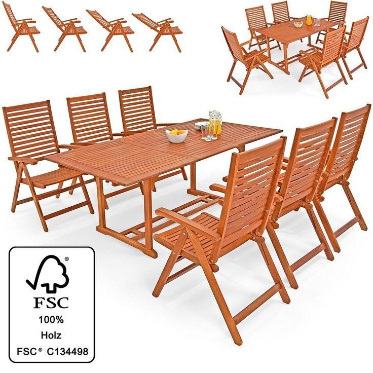 Outdoor 6+1 Sitzgruppe Essgruppe mit 4 klappbaren Stühlen klappbarer Tisch Neu
